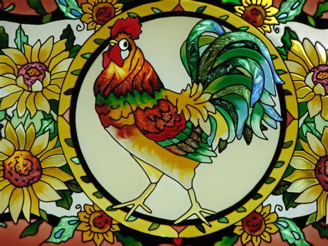 stained glass rooster l free stained glass rooster stock photo freeimages com