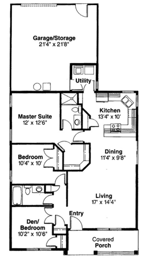 single story narrow lot house plans slender single story bungalow 72371da 1st floor master suite cad available