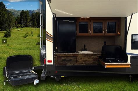small travel trailer with outdoor kitchen kitchen amusing fifth wheel with outdoor kitchen ultra