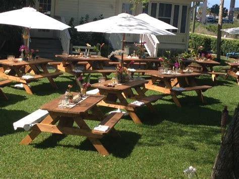 picnic bench rental pro line rustic wood picnic tables rentals more event
