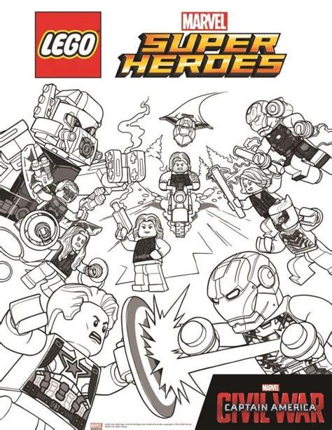 Kleurplaten En Zo 187 Kleurplaten Van Lego Marvel Avengers Captain America Civil War Coloring Pages
