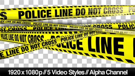 yellow police line do not cross tape 5 videos motion
