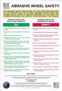 How To Use Bench Grinder Abrasive Safety Posters