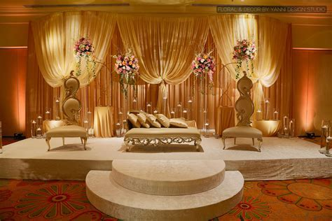 Beautiful Indian wedding stage decor at the Oakbrook Hills