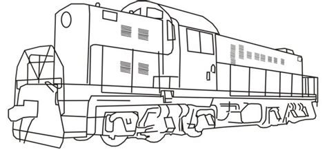 outline pictures of train diesel train coloring train