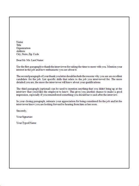 Formal Letter Advertisement 5 Formal Thank You Letter Ganttchart Template