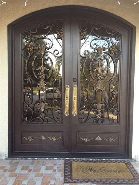 glass front doors with wrought iron exterior black entry door with glass and