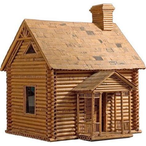 newspaper log cabin usa circa  unusual house   newspapers   bertha blackburn