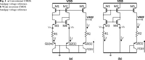 cmos analog integrated circuits based on weak inversion operation a conventional cmos bandgap voltage reference b weak inversion cmos