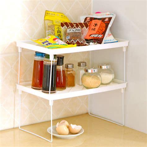 Corner Microwave Shelf by Home Kitchen Bathroom Shelf Storage Rack Folding Multi