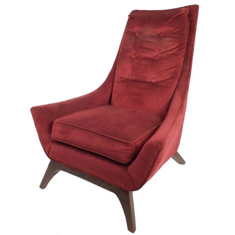 Mid Century High Back Chair by Mid Century Modern High Back Lounge Chair In The Style Of