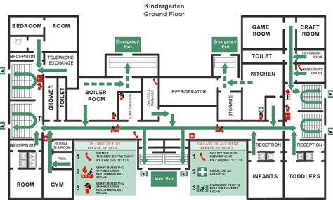 Emergency Exit Map Template and emergency plans solution conceptdraw