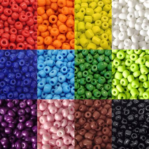seed beading 50g glass seed opaque size 6 0 approx 4mm