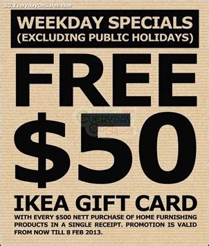 Ikea Free Gift Card - 11 dec 2012 8 feb 2013 ikea free 50 gift card promotion