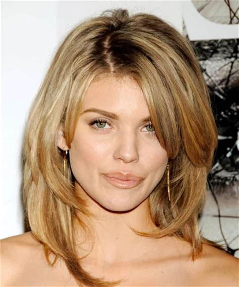 med to long lengh haircuts trends medium length layered hairstyles with bangs 2015