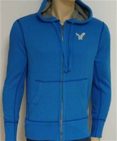 Jaket Sweater Hoodie Zipper Tp american eagle outfitters mens bright blue hoodie