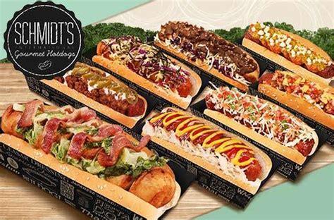 food drinks promo  schmidts gourmet hotdogs