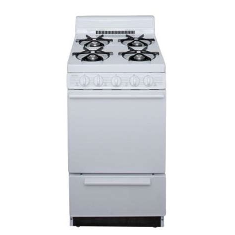 premier 20 in 2 42 cu ft gas range in white sak100op