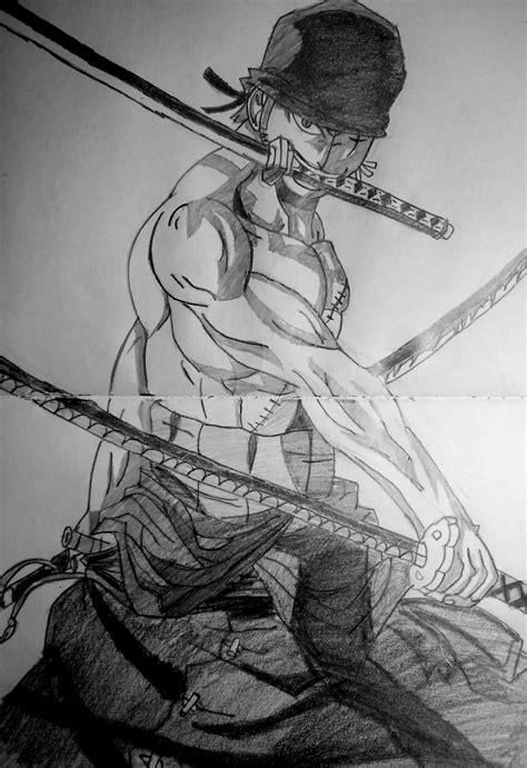 Drawing Zoro by Speed Drawing Anime Roronoa Zoro One