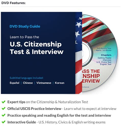 study guide for the us citizenship test in and 2018 study guides for the us citizenship test books pass the citizenship test dvd study guide