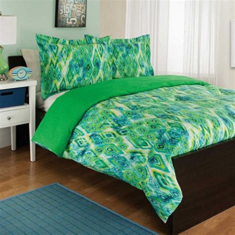 blue aqua green hawaiian tropical twin comforter