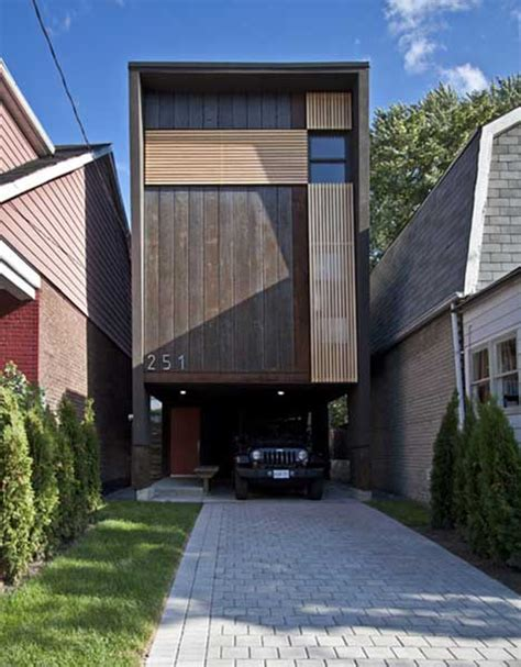 in a pinch shaft house maximizes 16 foot wide lot