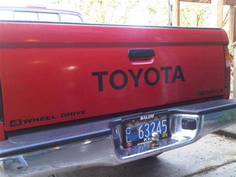 Toyota Tailgate Decal Toyota Tailgate Decal