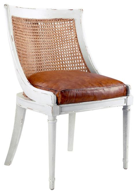 white french armchair bettine french country antique leather rustic white