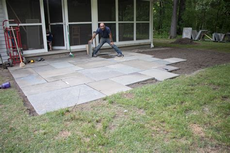 diy flagstone patio planning and installation merrypad