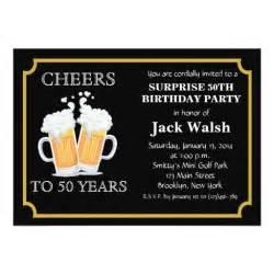 cheers 50th birthday invitations zazzle