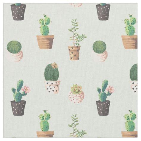 cute pattern material cute cactus pattern fabric zazzle com