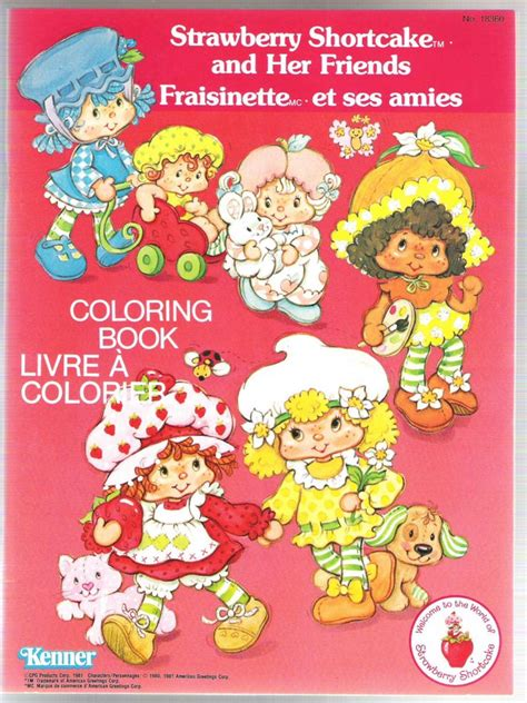 strawberry shortcake coloring book 806 best vintage shortcake coloring books images on