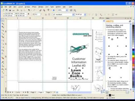 template brochure corel draw x4 creating a brochure in coreldraw graphics suite x4 doovi
