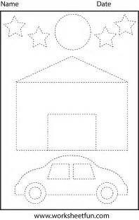 Trace Image Online Picture Tracing Shapes 1 Worksheet Free Printable