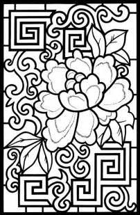 coloring designs stained glass coloring pages coloring page for