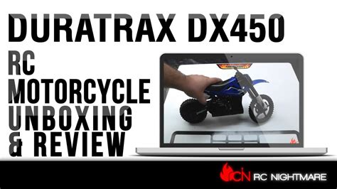 Duratrax DX450 RC Motorcycle Review   YouTube