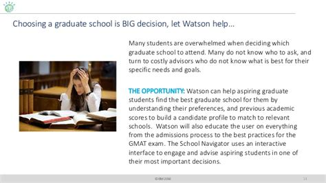 Mba Admissions Manchester Business School Watson by Watson Api Use Demos For The Nittany Watson Challenge