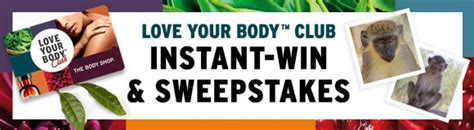 Instant Win Game Sweepstakes Official Rules - the body shop love your body club instant win game