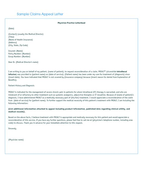 Letters For Insurance Appeals Best Photos Of Appeal Letter For Reconsideration