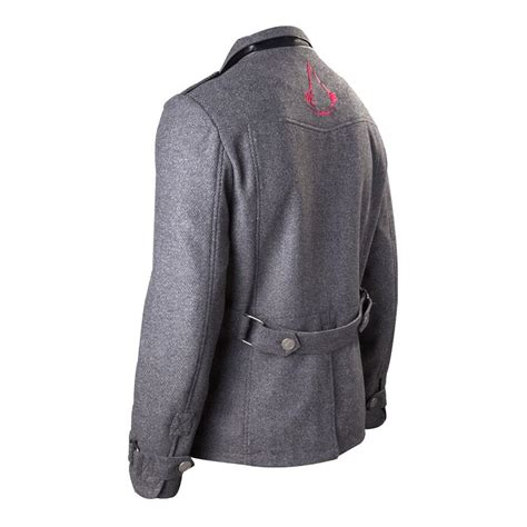 Rompi Assassins Creed Grey assassin s creed rogue brotherhood crest logo jacket large grey ebay