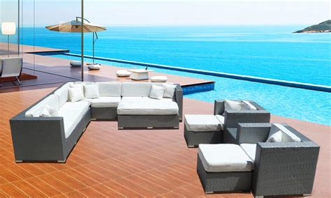 11pc Aliante Eurolounger Plus Size Plus Size Outdoor Furniture