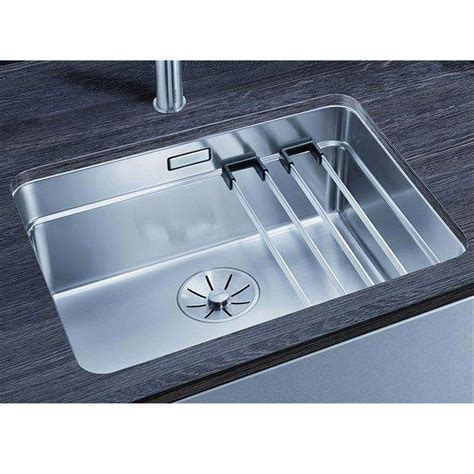 blanco stainless steel sink blanco etagon 500 u stainless steel sink kitchen sinks
