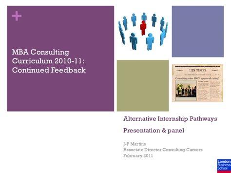 Alternative Email For Mba Application by Alternative Internship Pathways Feedback 2011