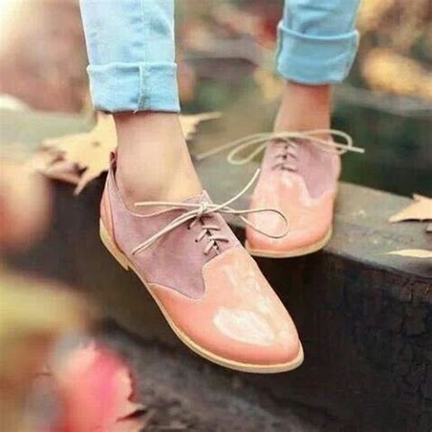 pastel oxford shoes pastel mauve and shoes on