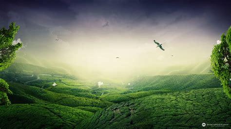 Landscape Hd Wallpaper Green Landscape Wallpapers Hd Wallpapers