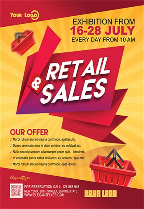 Retail Sales Flyer Psd Template By Elegantflyer Sales Flyer Template