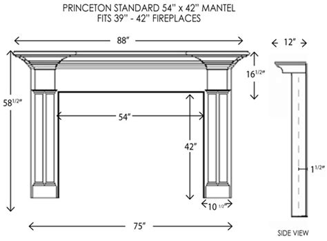 standard mantel height wood fireplace mantels princeton standard fireplace