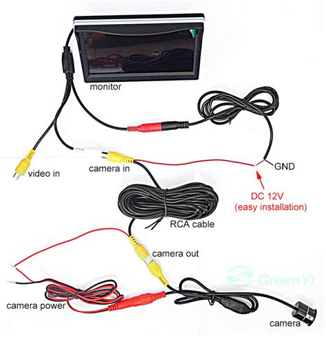 car rear view wiring diagram get free image about