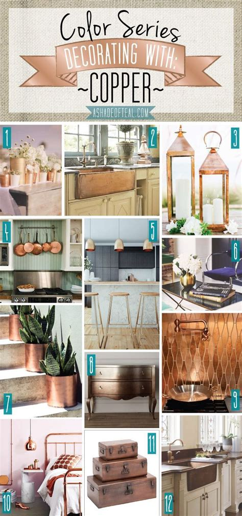 hint of green two tone kitchen with copper accents copper farm sink white painted wood 32 best turquoise rust images on pinterest color