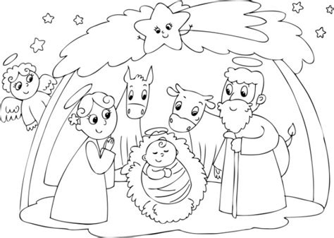 imagenes para dibujar nacimiento imagenes de para colorear de navidad gratis